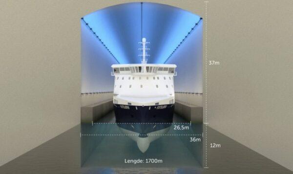 Первый в мире морской тоннель для судов
