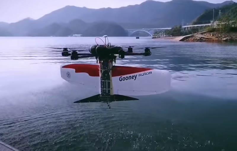 Китай разработал летательно-подводный беспилотник